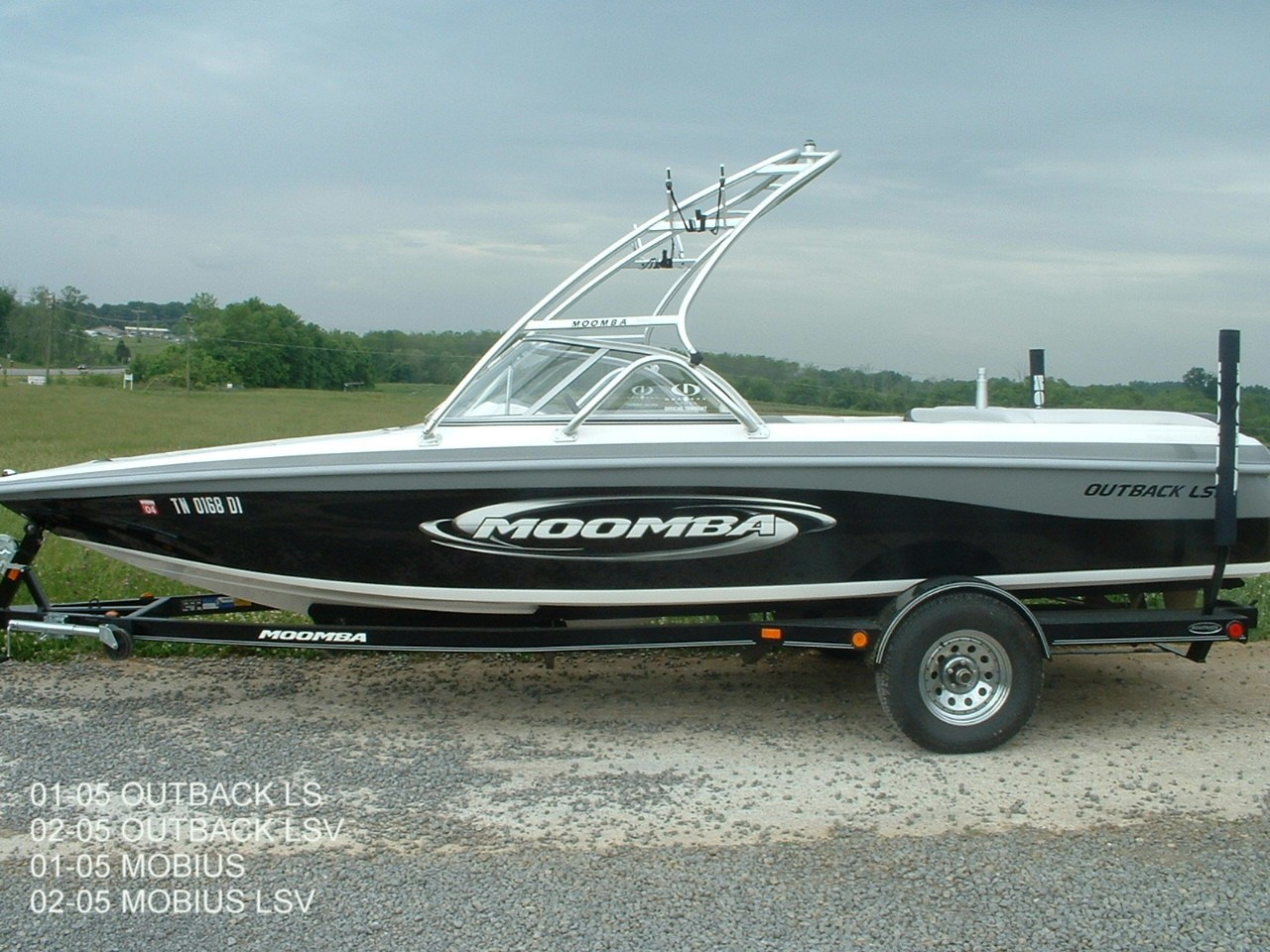 main view of 01 - 05 moomba outbacl ls with wakeboard tower