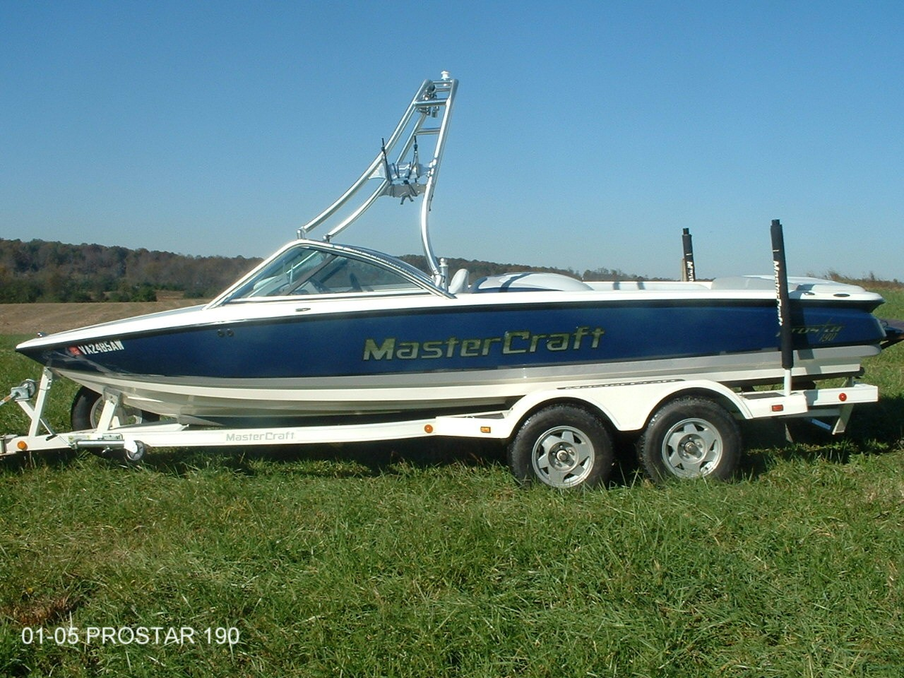 main view of 01 - 05 mastercraft prostar 190 wakeboard boat with new dimension towers