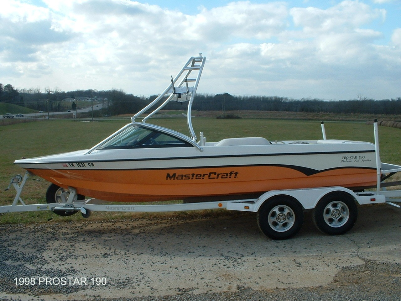 main view of 98 mastercraft prostar 190 with new dimension wakeboard tower