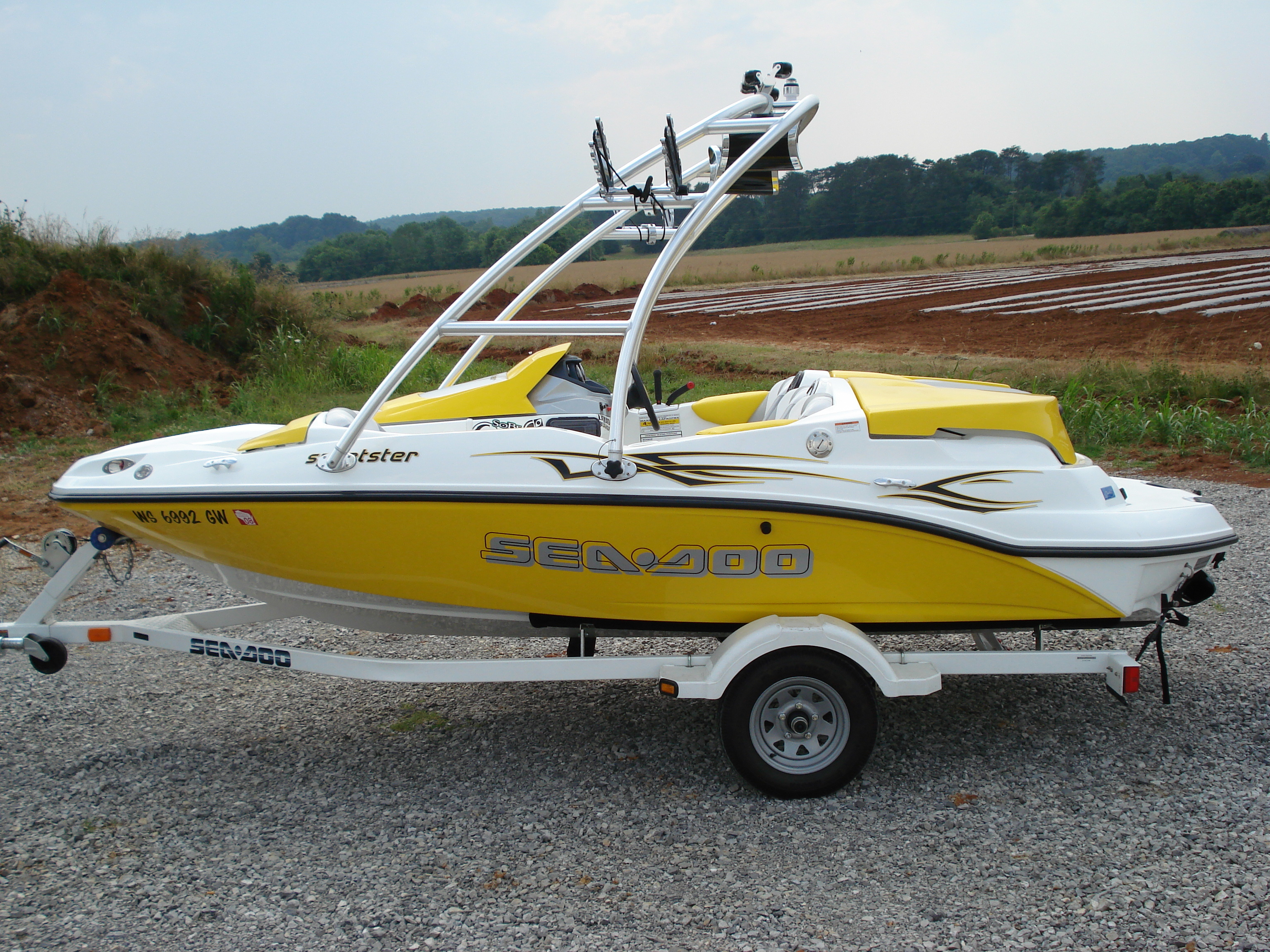 main view of 2005 sea doo sportster with new dimension towers