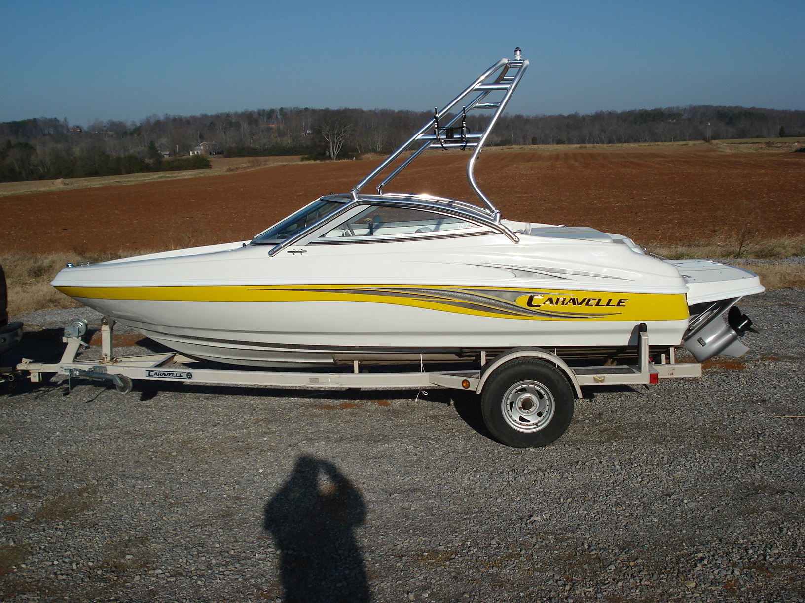 main image of 07 caravelle 187 with new dimension towers wakeboard tower