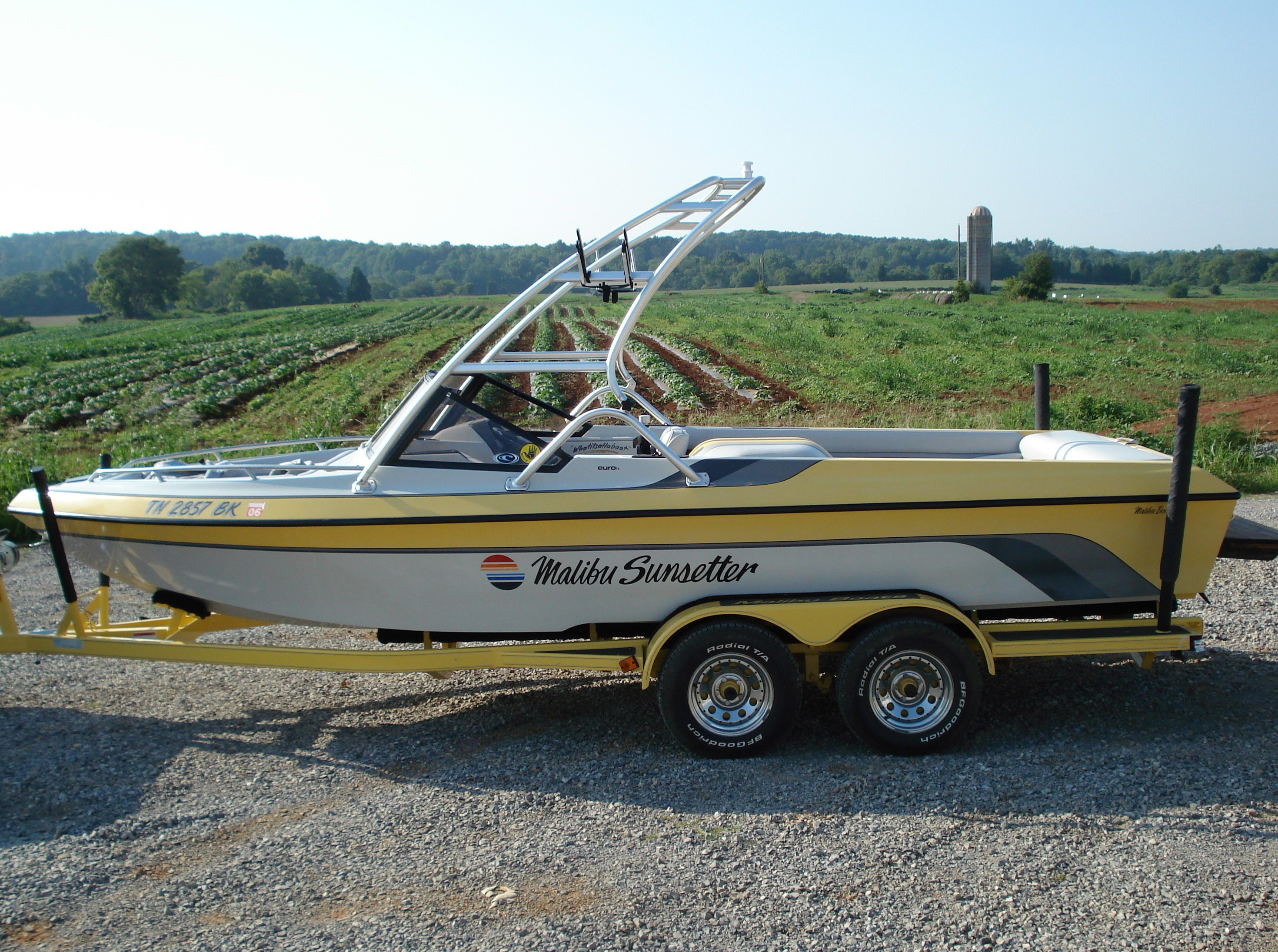 main image of 90 - 94 malibu sunsetter open bow with wakeboard tower from new dimension towers