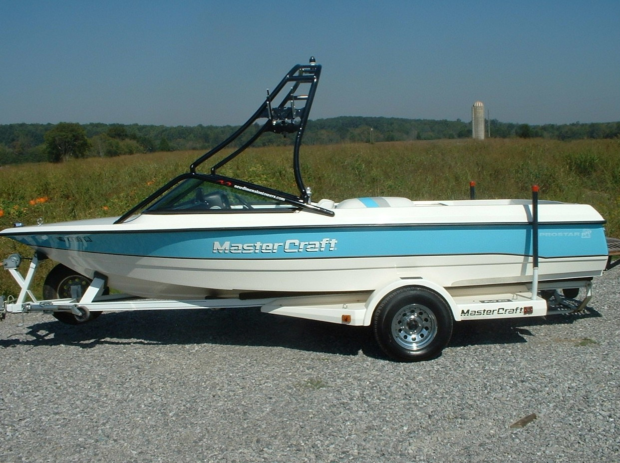main view of 91 - 94 mastercraft prostar 190 with new dimension tower