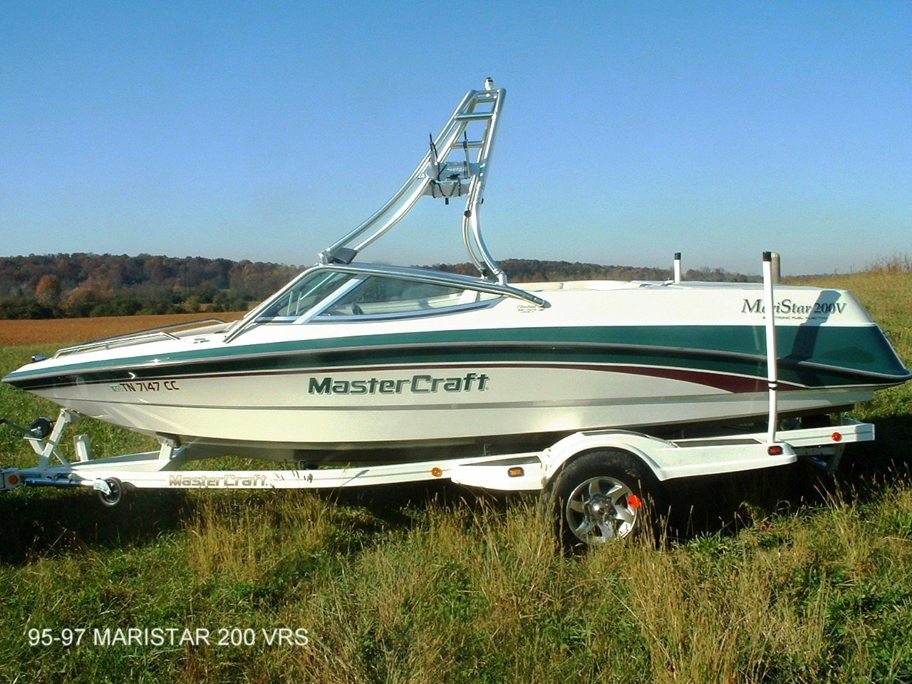 main view for 95 - 97 mastercraft maristar 200 with new dimension towers