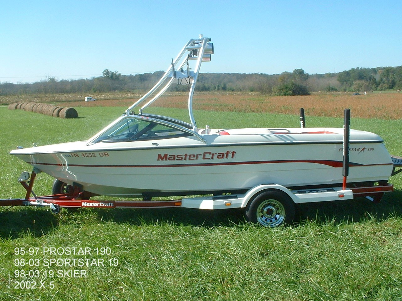 main view for 95 - 97 mastercraft prostar 190 with new dimension tower