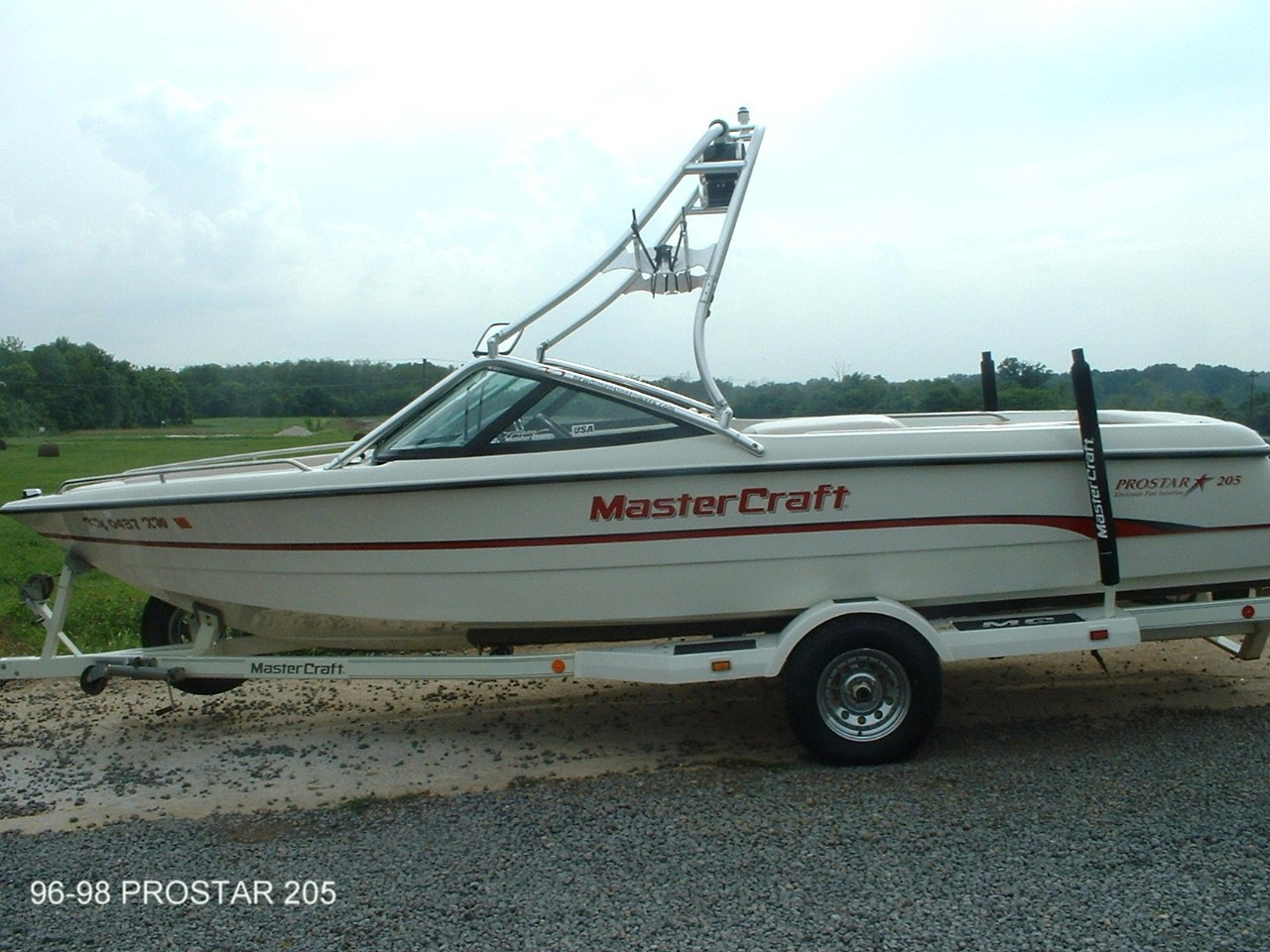 main view for 96 - 98 mastercraft prostar 205 with new dimension tower