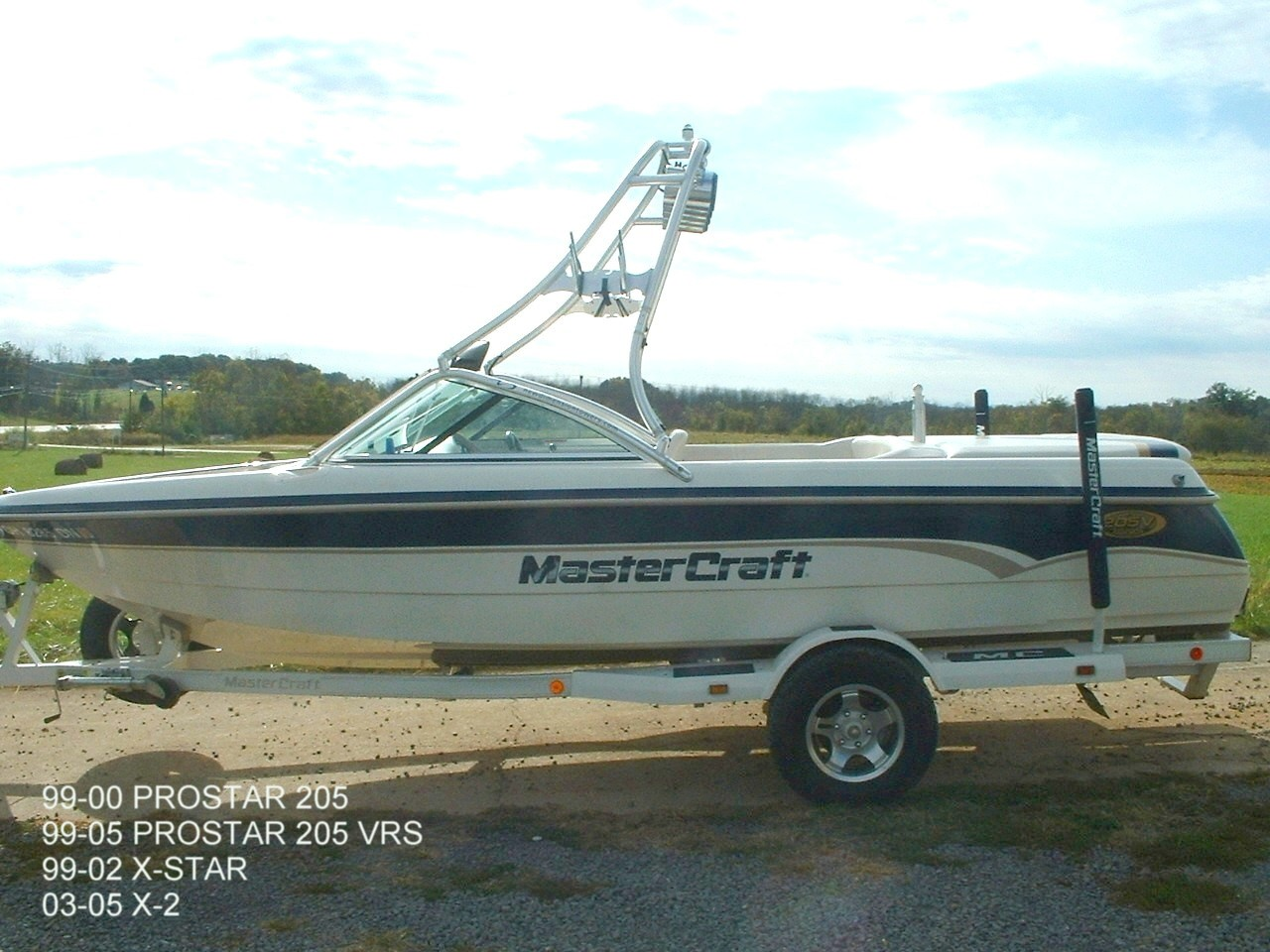 main view of 99 - 00 mastercraft prostar 205
